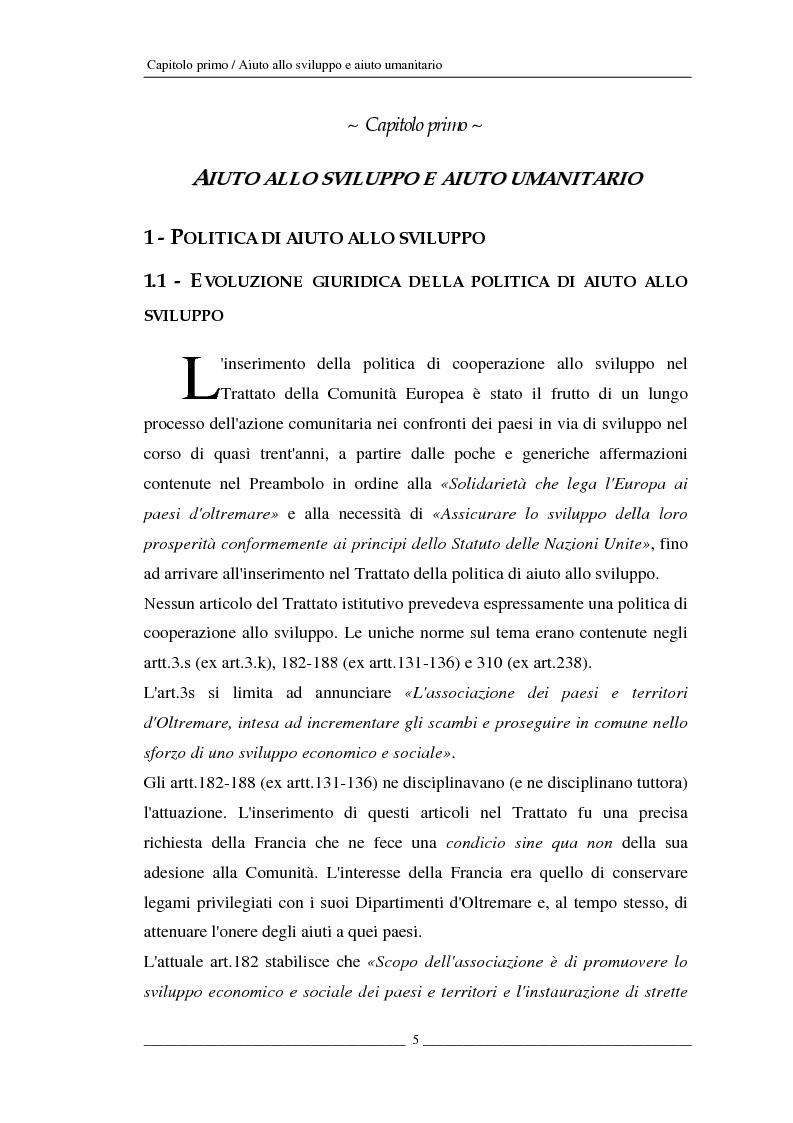 Anteprima della tesi: L'Unione europea e gli aiuti umanitari. La crisi dei Grandi Laghi, Pagina 5