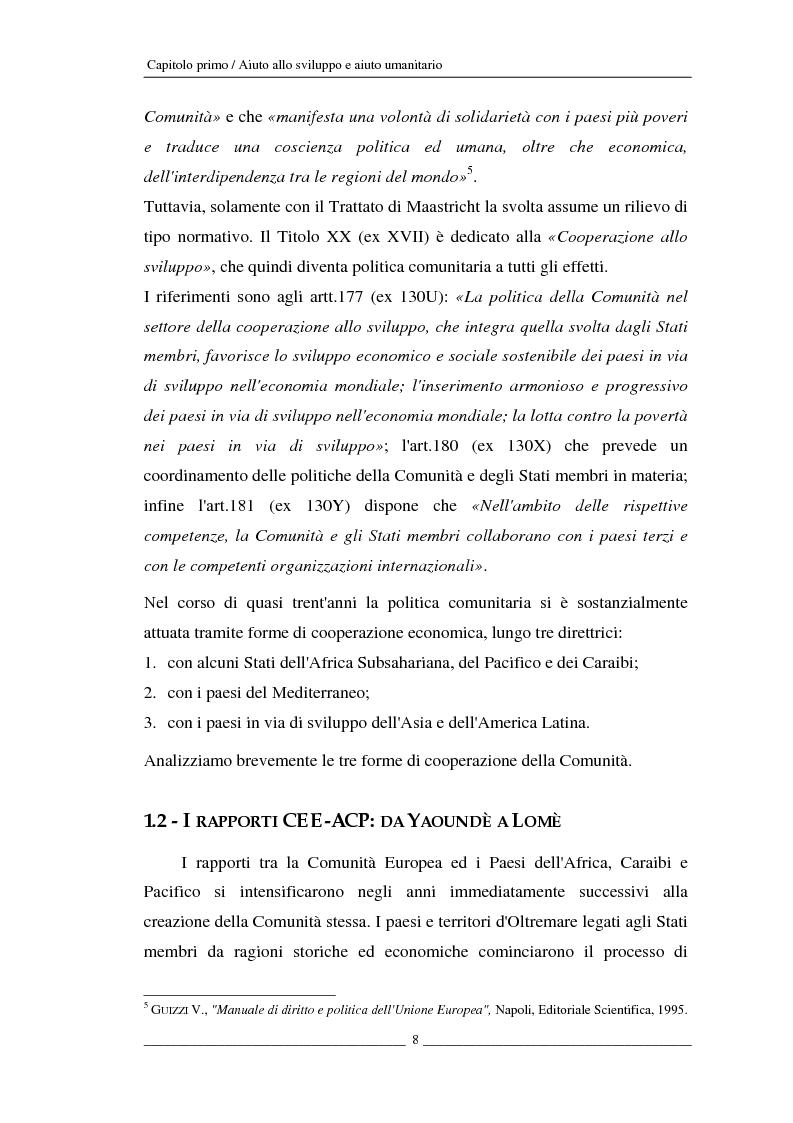 Anteprima della tesi: L'Unione europea e gli aiuti umanitari. La crisi dei Grandi Laghi, Pagina 8