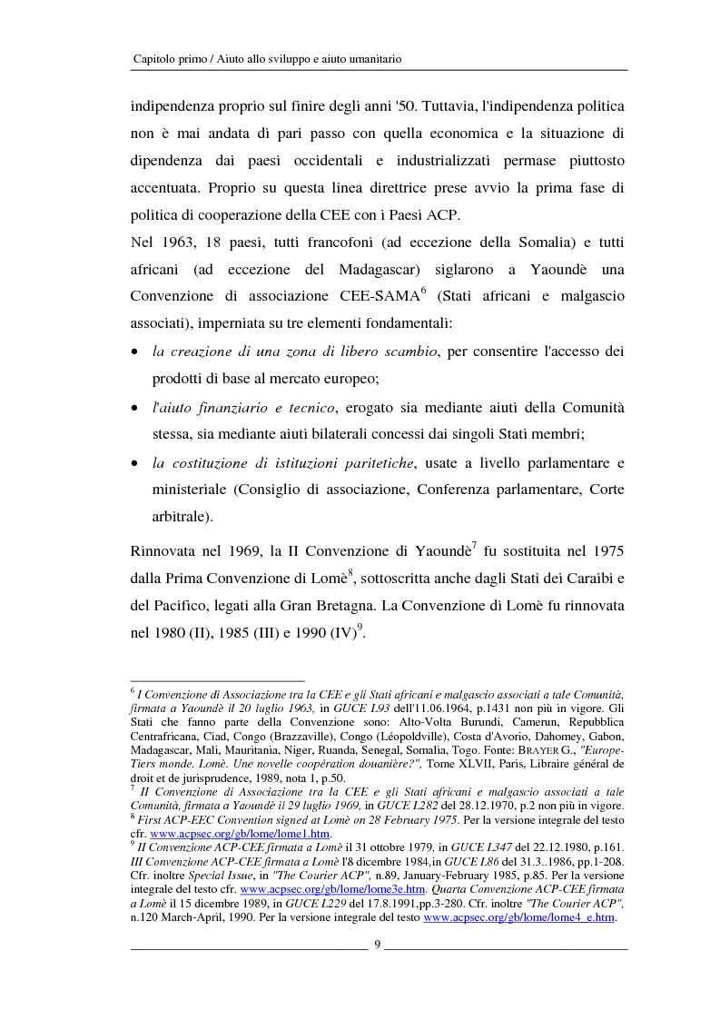 Anteprima della tesi: L'Unione europea e gli aiuti umanitari. La crisi dei Grandi Laghi, Pagina 9