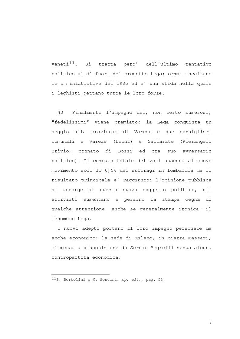 Anteprima della tesi: Lega Nord e problematiche sindacali, Pagina 13