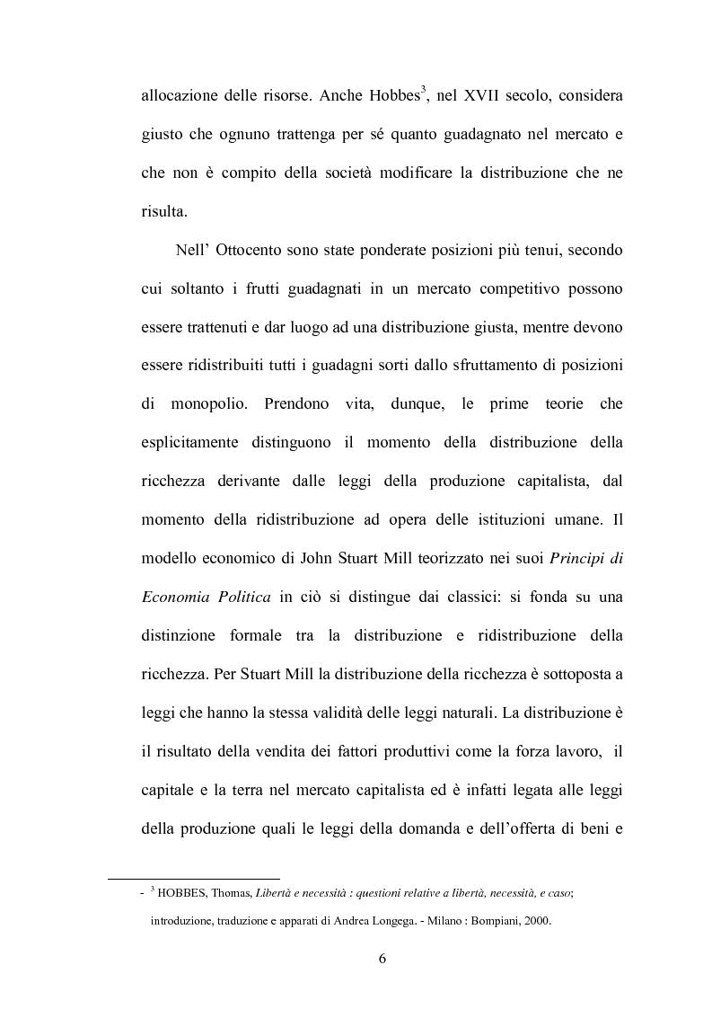 Anteprima della tesi: Principi di giustizia distributiva ed analisi della povertà in Amartya Sen, Pagina 2