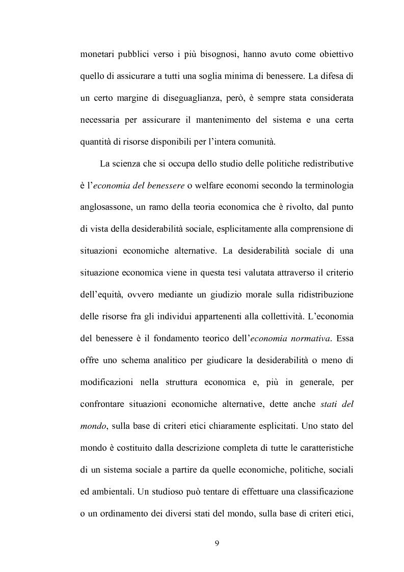 Anteprima della tesi: Principi di giustizia distributiva ed analisi della povertà in Amartya Sen, Pagina 5