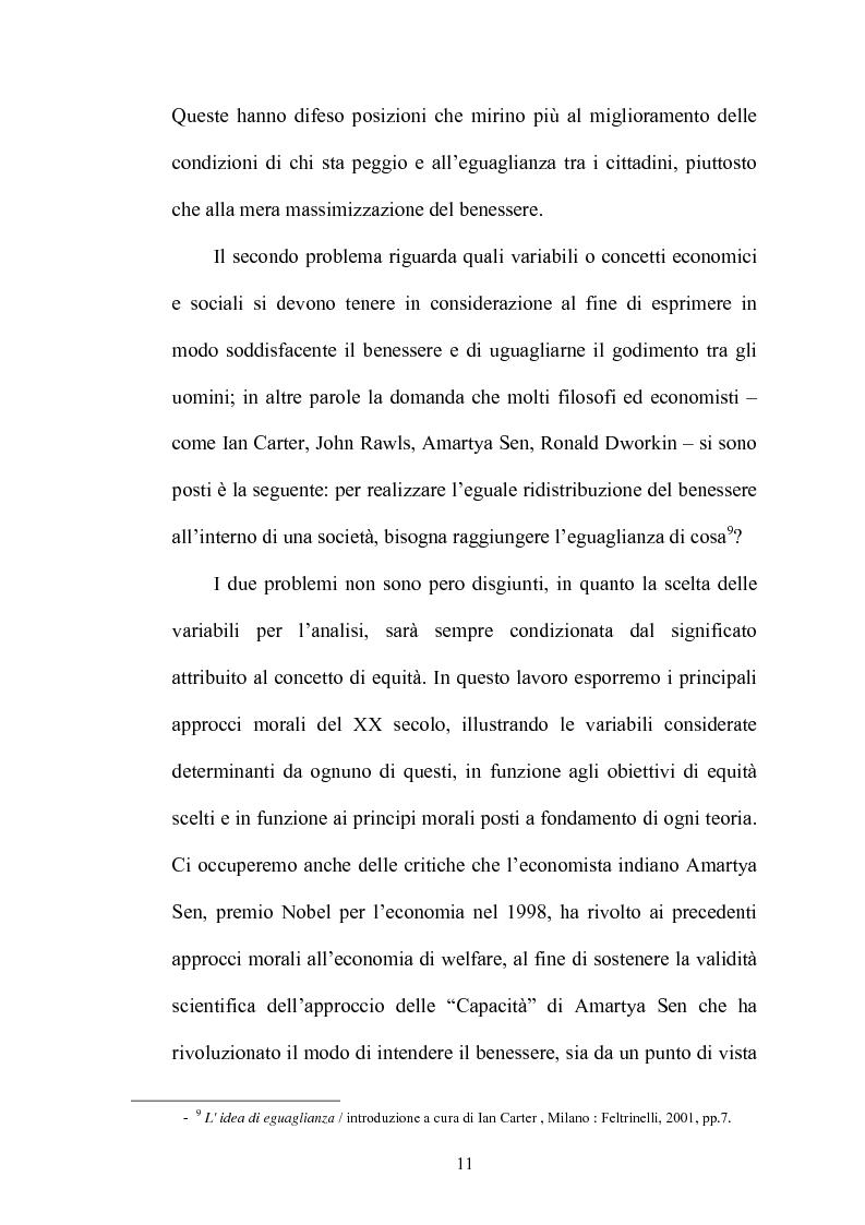 Anteprima della tesi: Principi di giustizia distributiva ed analisi della povertà in Amartya Sen, Pagina 7