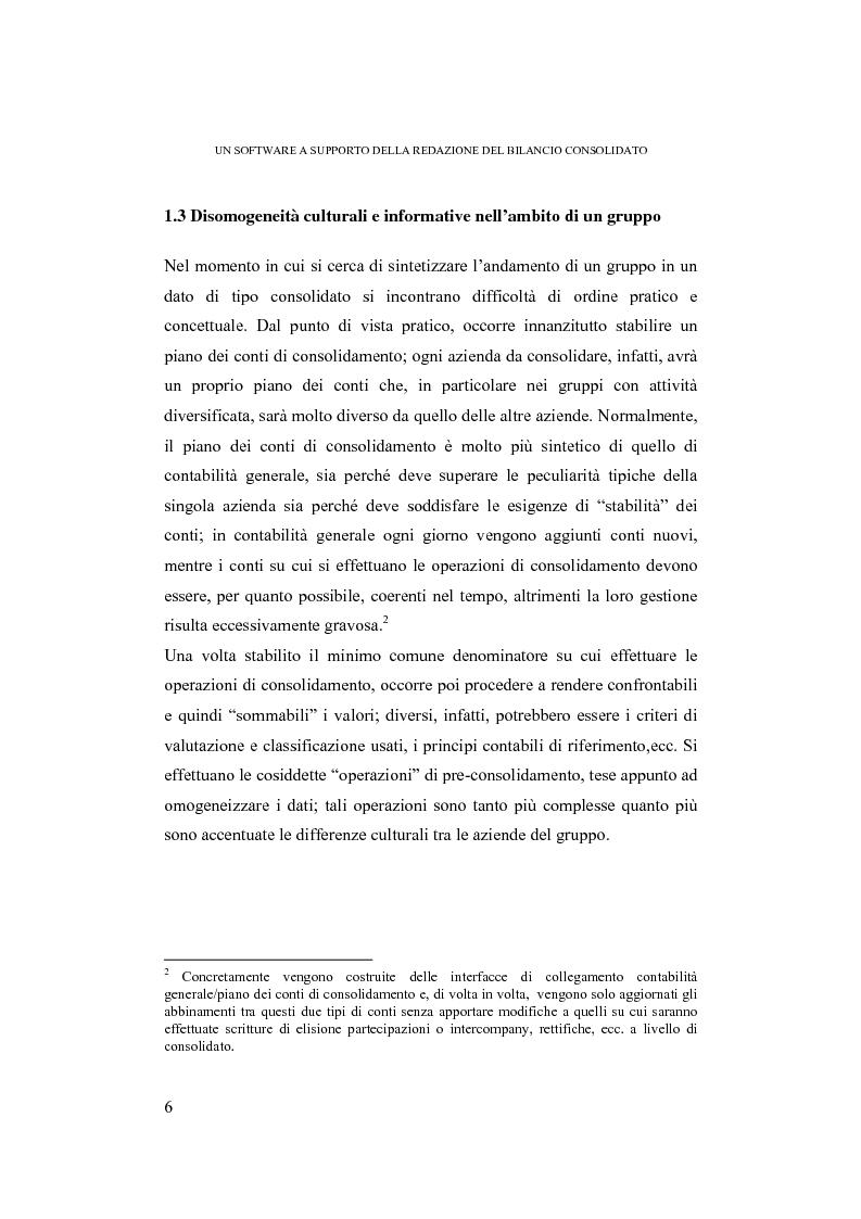 Anteprima della tesi: Un software a supporto della redazione del bilancio consolidato: il progetto Easy per la Bpvn (Banca Popolare di Verona e Novara), Pagina 4