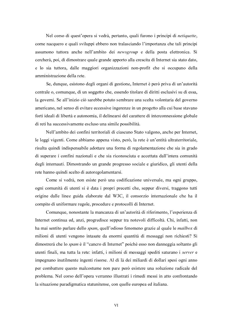 Anteprima della tesi: Le regole in Internet: netiquette, autoregolamentazione, deontologia, Pagina 2