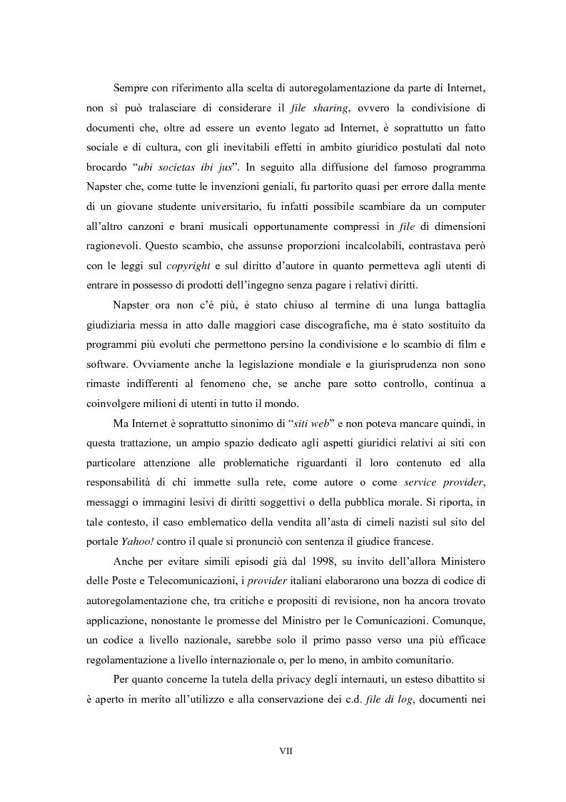 Anteprima della tesi: Le regole in Internet: netiquette, autoregolamentazione, deontologia, Pagina 3