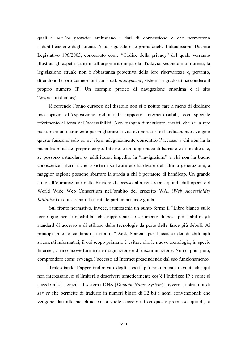 Anteprima della tesi: Le regole in Internet: netiquette, autoregolamentazione, deontologia, Pagina 4