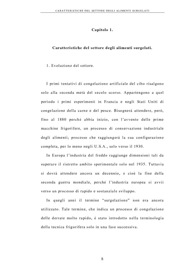 Anteprima della tesi: La logistica nell'industria dei surgelati. Analisi di un caso, Pagina 4