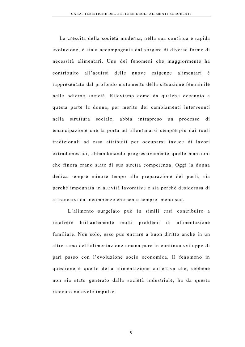 Anteprima della tesi: La logistica nell'industria dei surgelati. Analisi di un caso, Pagina 5