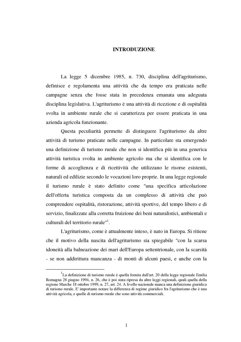 Anteprima della tesi: Imprenditore agrituristico e fallimento, Pagina 1