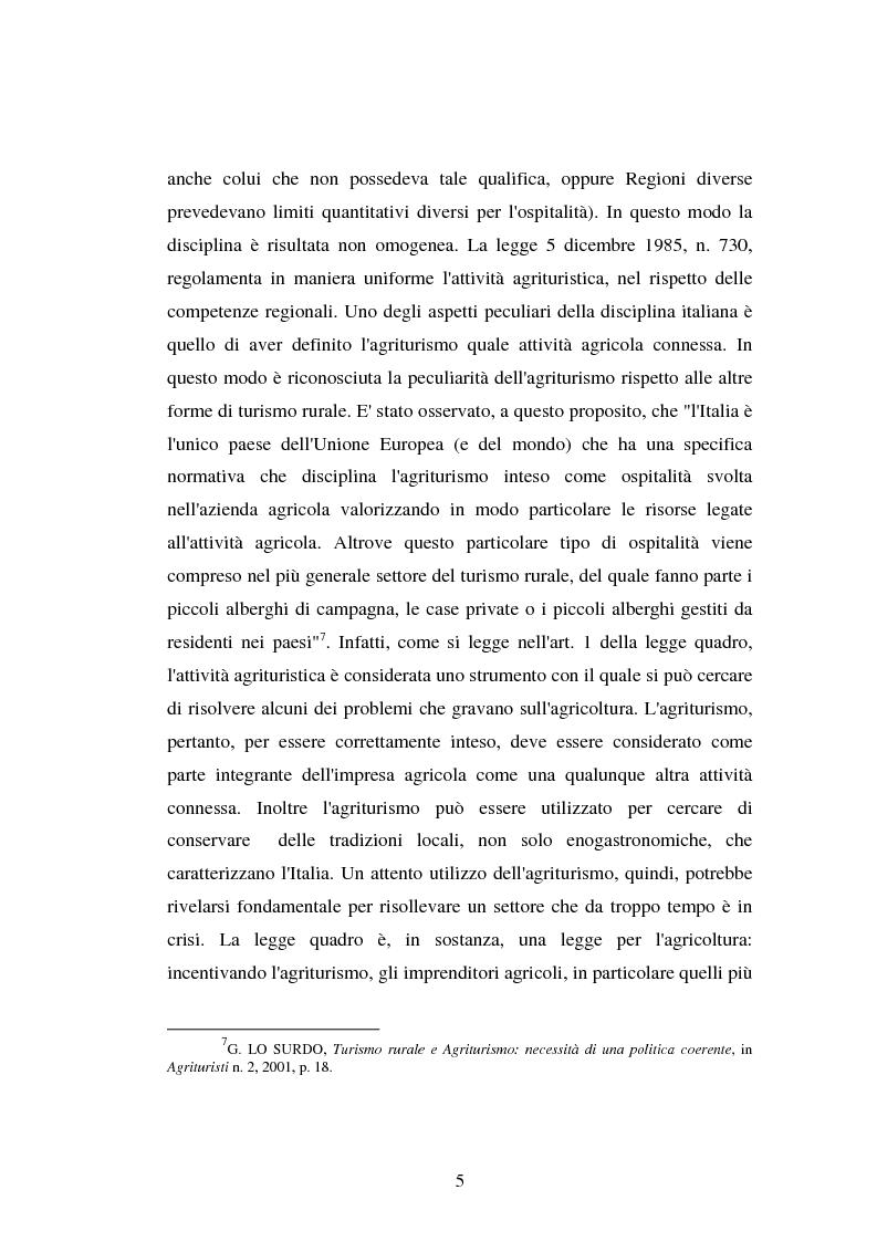 Anteprima della tesi: Imprenditore agrituristico e fallimento, Pagina 5
