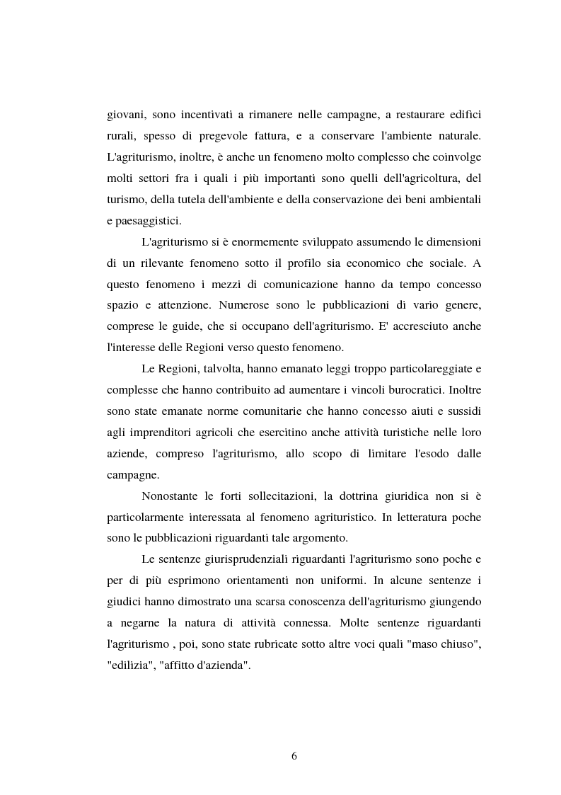 Anteprima della tesi: Imprenditore agrituristico e fallimento, Pagina 6
