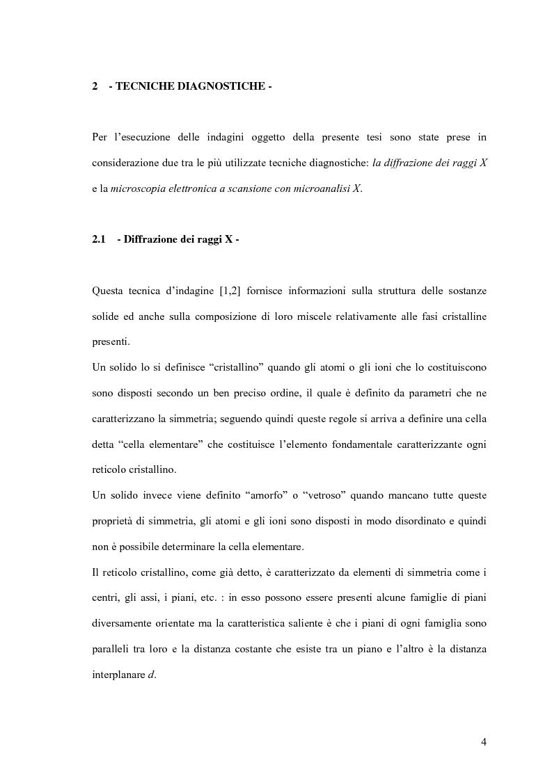 Anteprima della tesi: Utilizzo delle tecniche diagnostiche per lo studio di reperti archeologici, Pagina 3