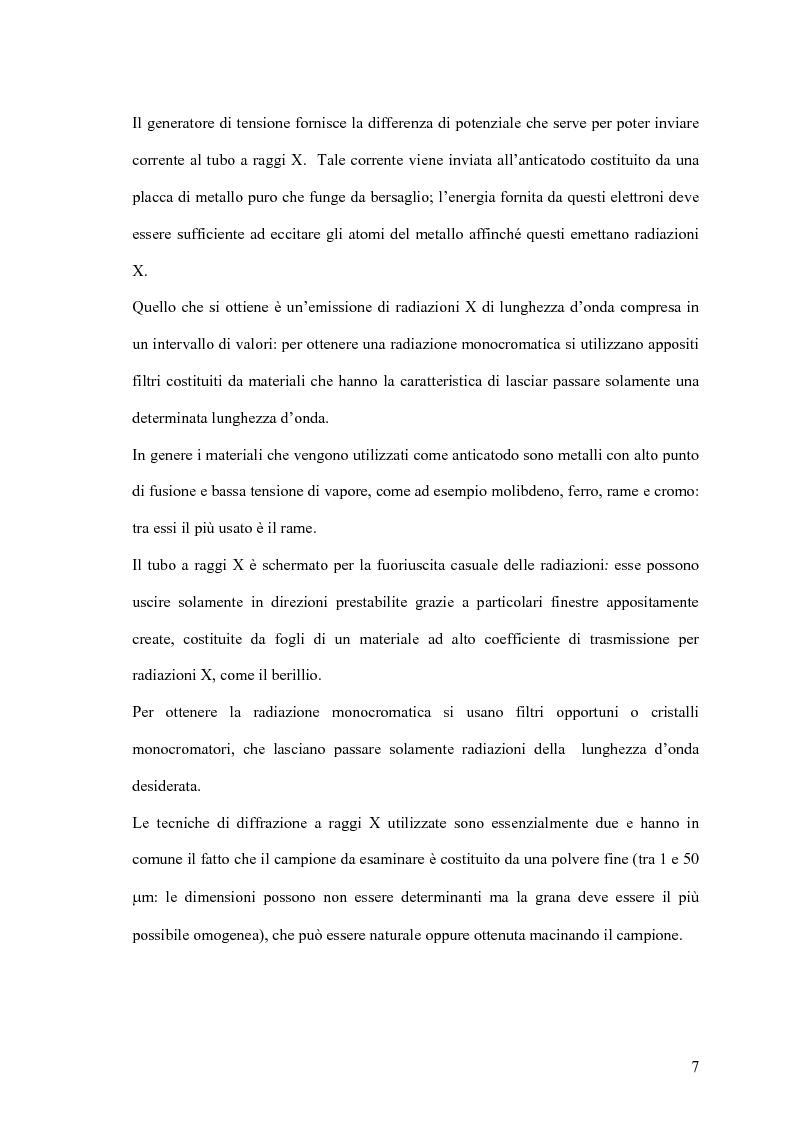 Anteprima della tesi: Utilizzo delle tecniche diagnostiche per lo studio di reperti archeologici, Pagina 6