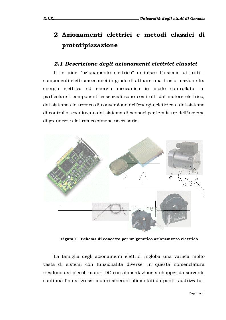 Anteprima della tesi: Studio e realizzazione di un sistema di prototipizzazione rapida per azionamenti elettrici, Pagina 3