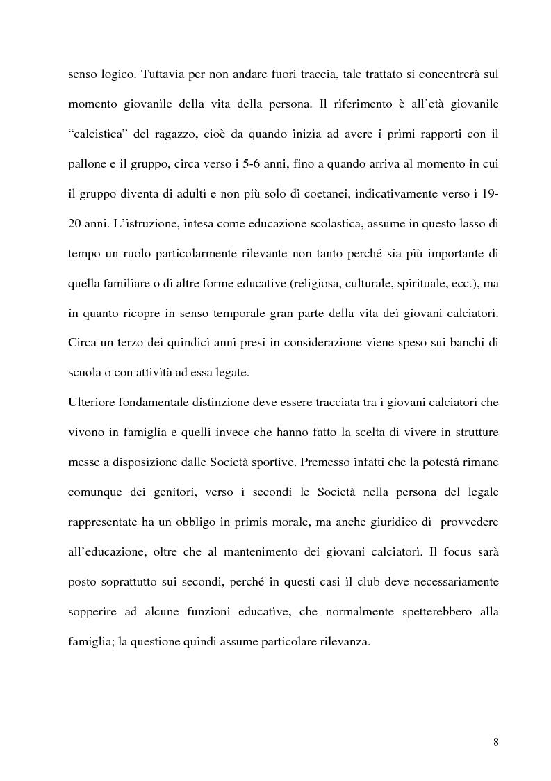 Anteprima della tesi: L'educazione al centro della formazione dei giovani calciatori, Pagina 5
