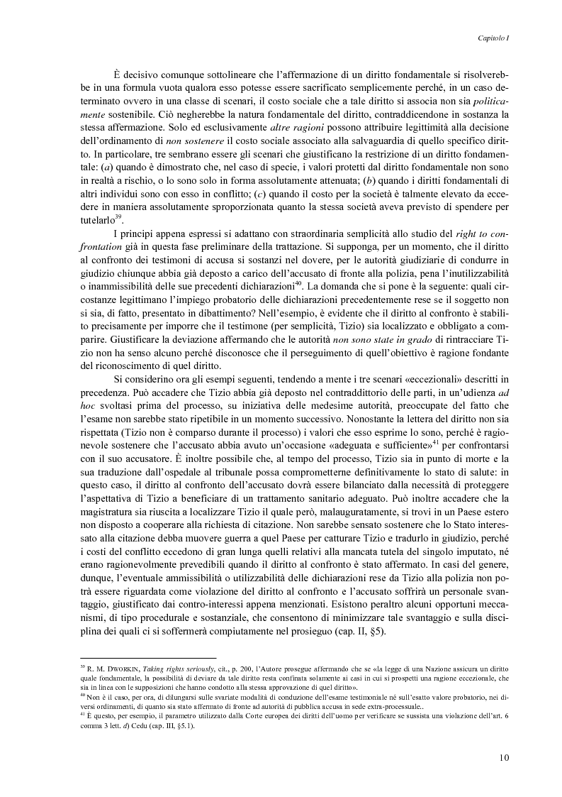 Anteprima della tesi: Giusto processo e diritto dell'imputato a confrontarsi con l'accusatore, Pagina 12