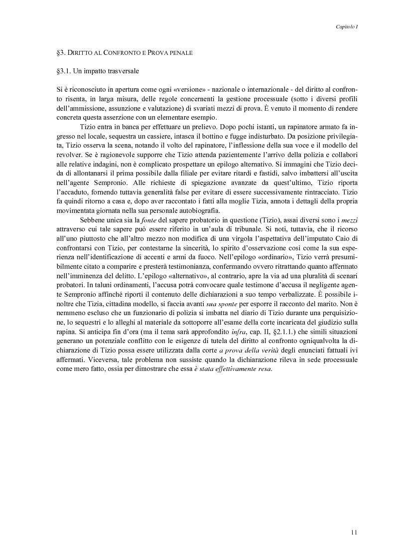 Anteprima della tesi: Giusto processo e diritto dell'imputato a confrontarsi con l'accusatore, Pagina 13