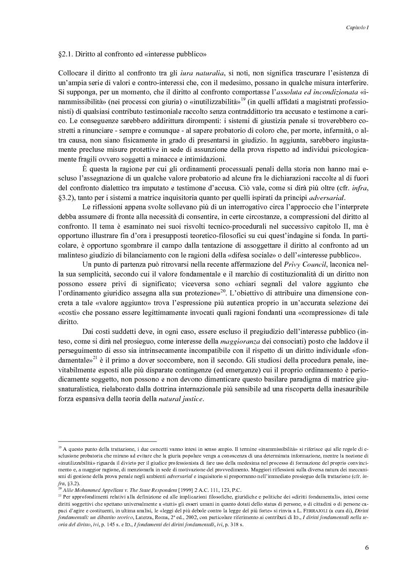 Anteprima della tesi: Giusto processo e diritto dell'imputato a confrontarsi con l'accusatore, Pagina 8