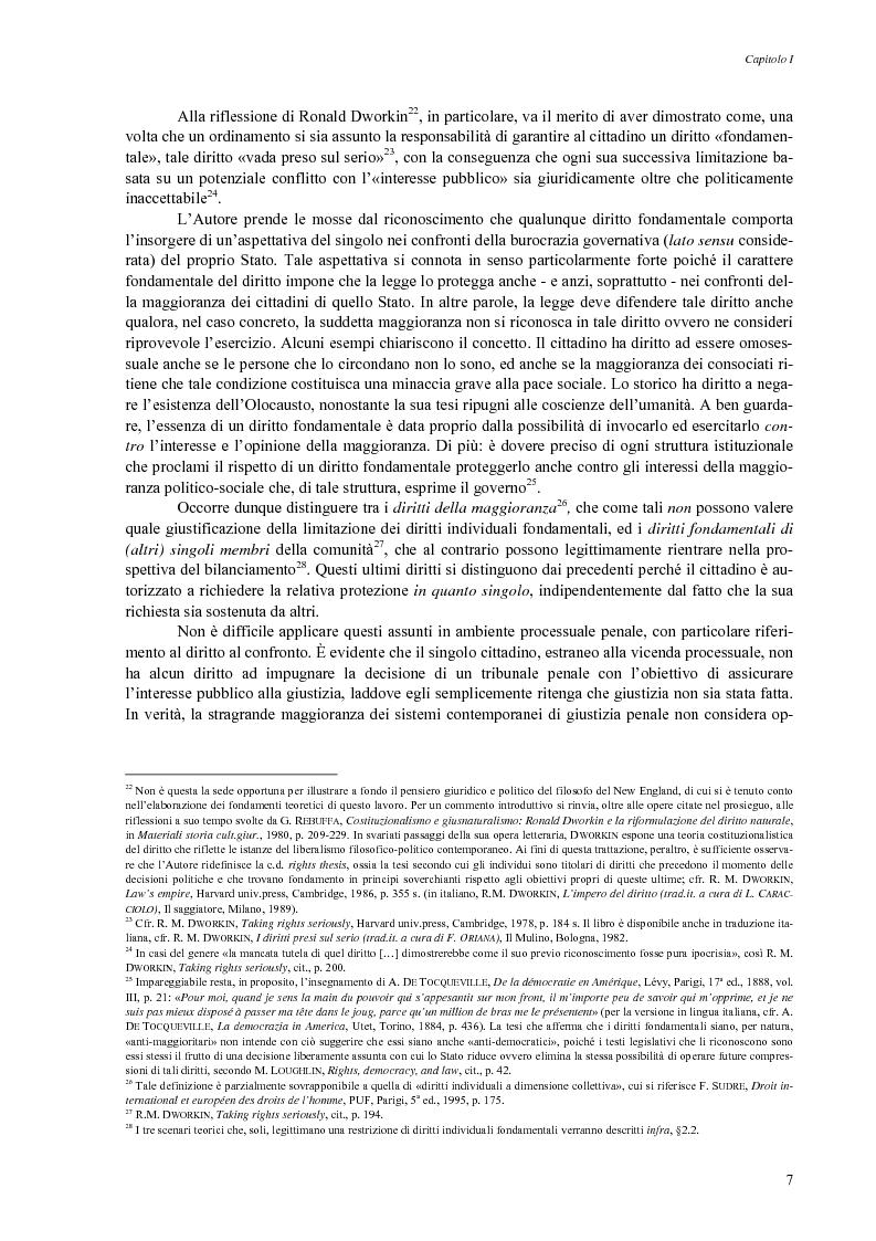 Anteprima della tesi: Giusto processo e diritto dell'imputato a confrontarsi con l'accusatore, Pagina 9