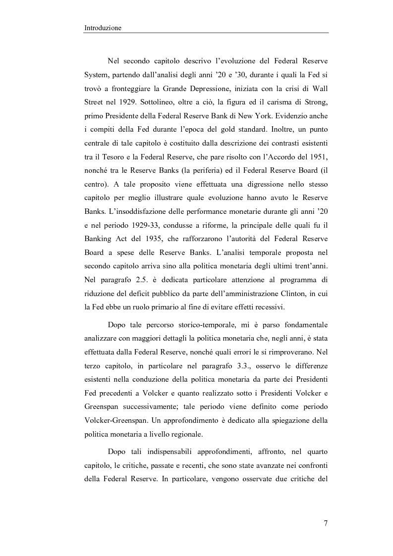 Anteprima della tesi: Il Federal Reserve System. Struttura, evoluzione e prospettive di cambiamento di una banca centrale indipendente, Pagina 2