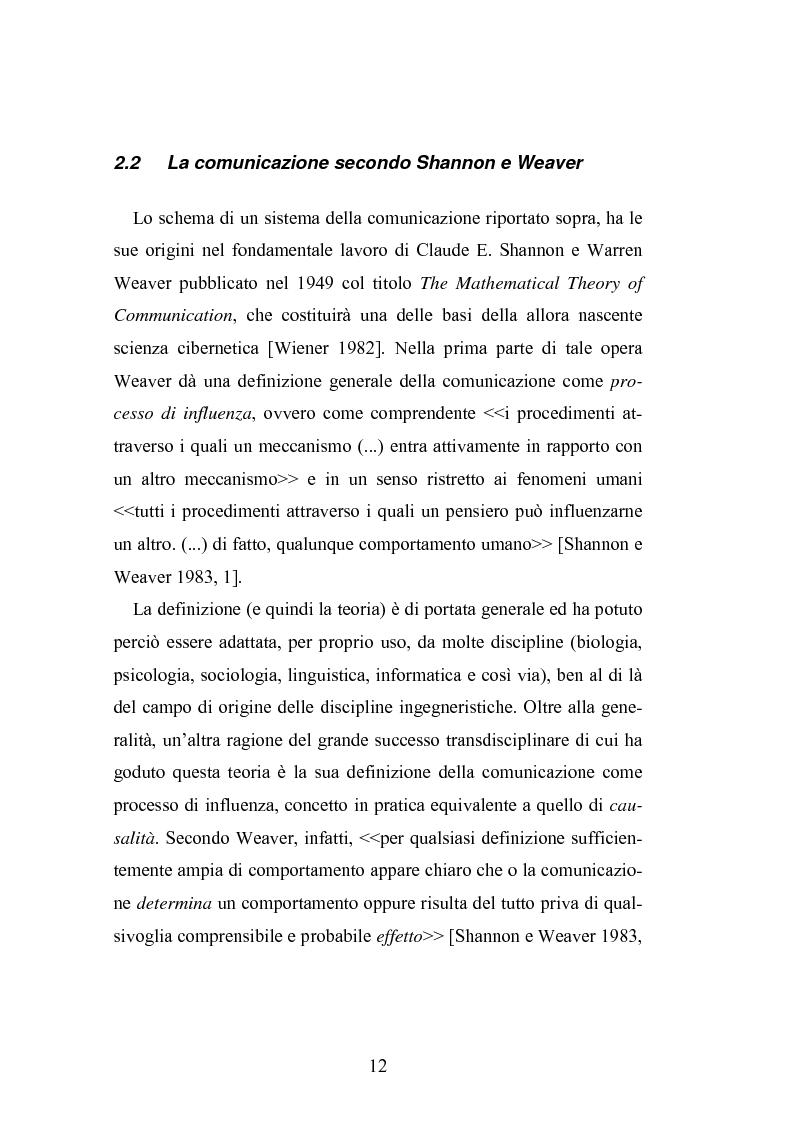 Anteprima della tesi: Interattività e nuove tecnologie: il caso di Internet, Pagina 10