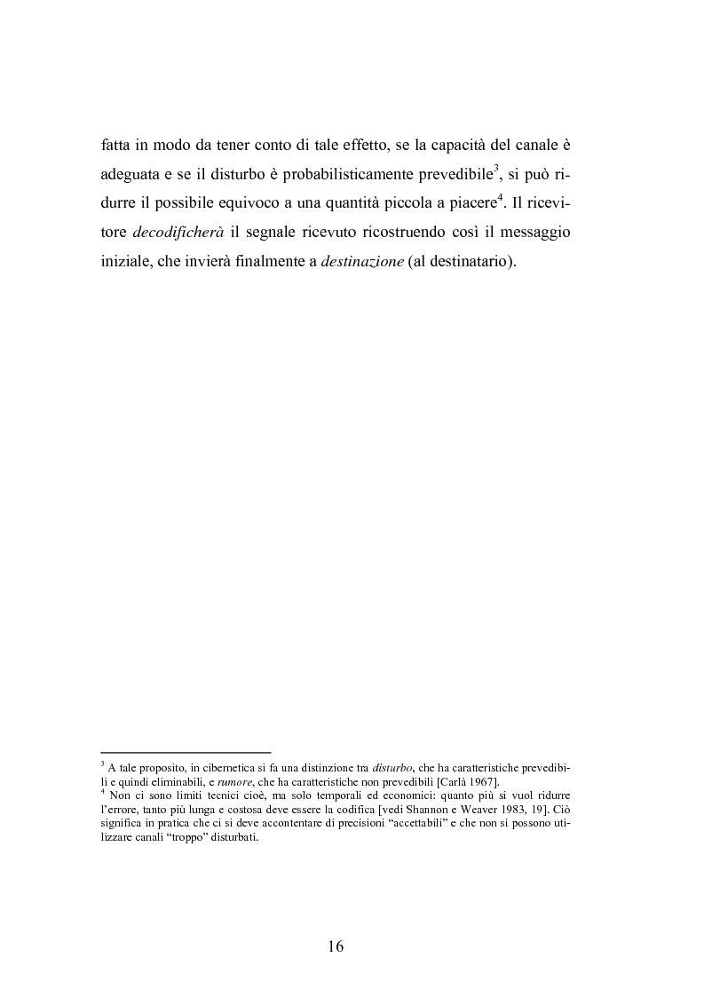 Anteprima della tesi: Interattività e nuove tecnologie: il caso di Internet, Pagina 14