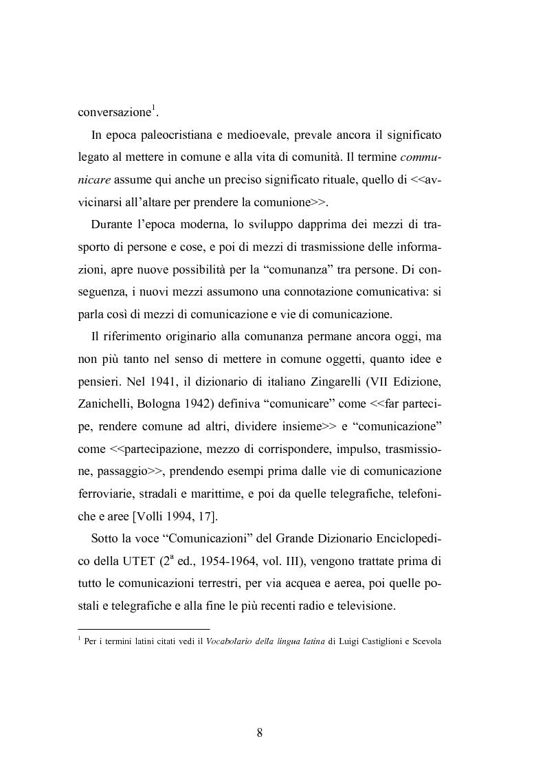 Anteprima della tesi: Interattività e nuove tecnologie: il caso di Internet, Pagina 6
