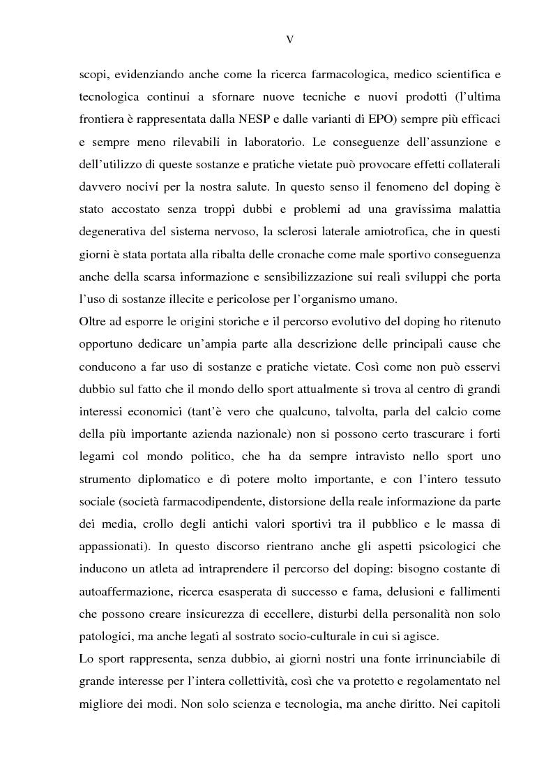 Anteprima della tesi: Costruzione etico-sociale del doping tra scienza e diritto, Pagina 3