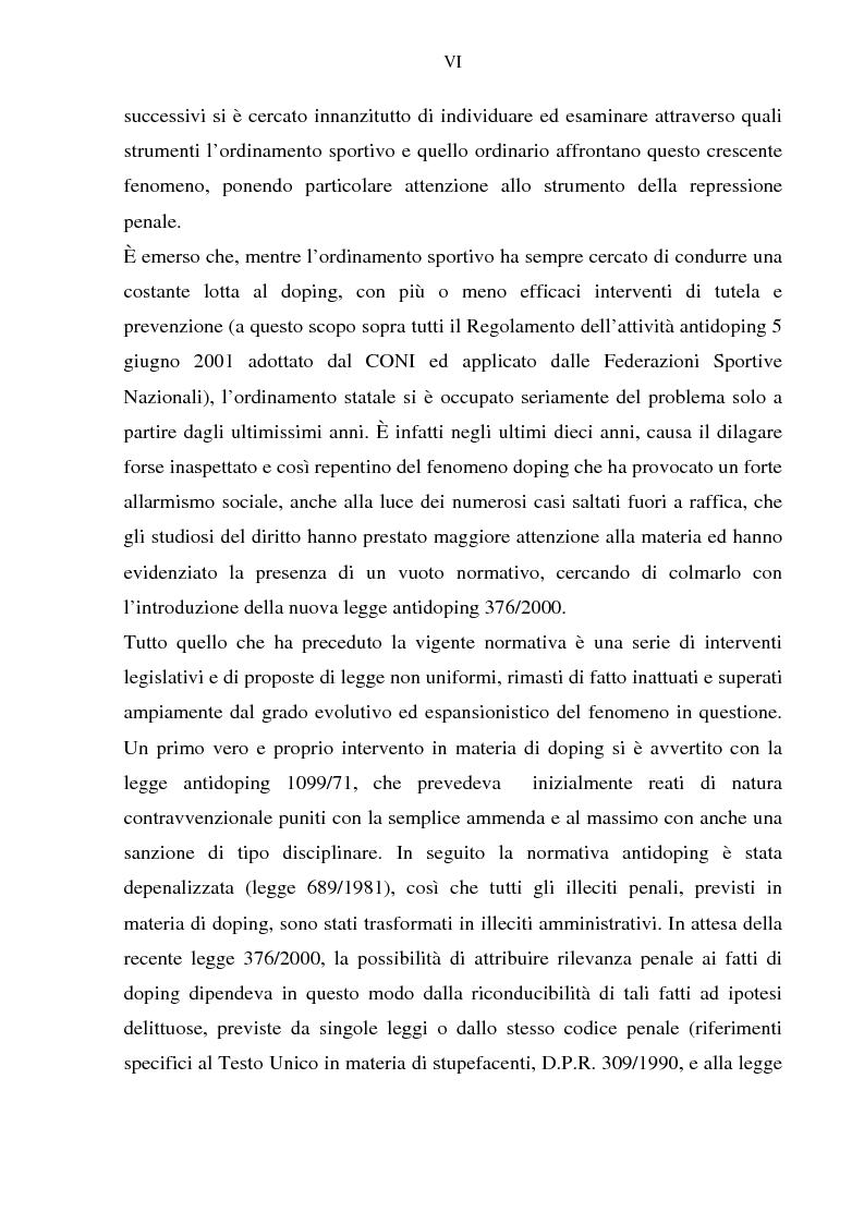 Anteprima della tesi: Costruzione etico-sociale del doping tra scienza e diritto, Pagina 4