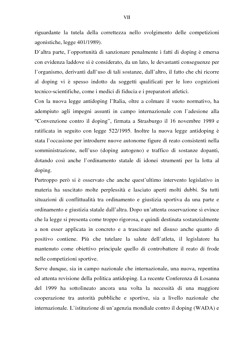 Anteprima della tesi: Costruzione etico-sociale del doping tra scienza e diritto, Pagina 5