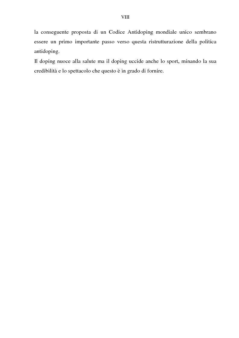 Anteprima della tesi: Costruzione etico-sociale del doping tra scienza e diritto, Pagina 6