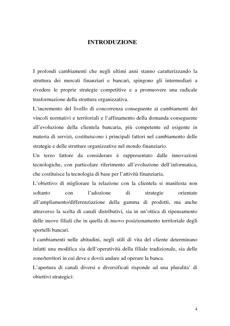 Anteprima della tesi: La rete dei promotori finanziari, Pagina 1