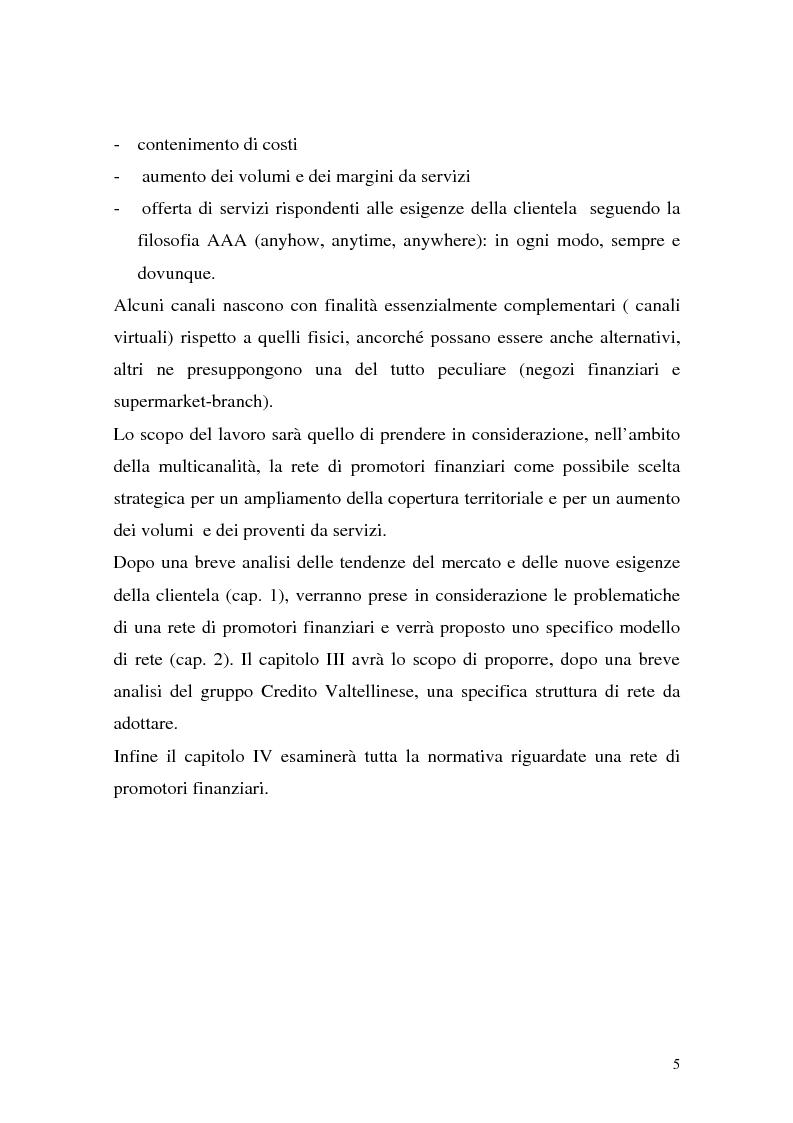 Anteprima della tesi: La rete dei promotori finanziari, Pagina 2