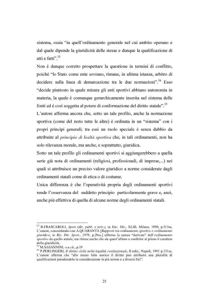 Anteprima della tesi: La Comunità europea e lo sport: problematiche giuridiche scaturite dalla sentenza Bosman, Pagina 14