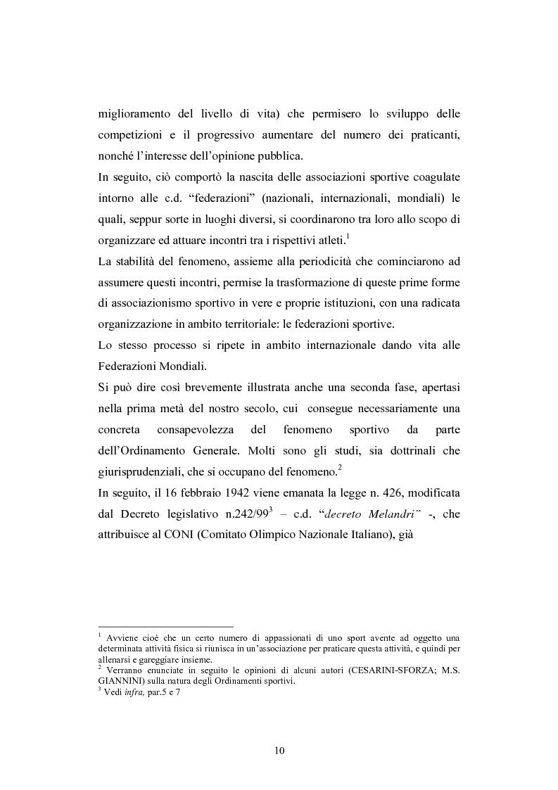 Anteprima della tesi: La Comunità europea e lo sport: problematiche giuridiche scaturite dalla sentenza Bosman, Pagina 3
