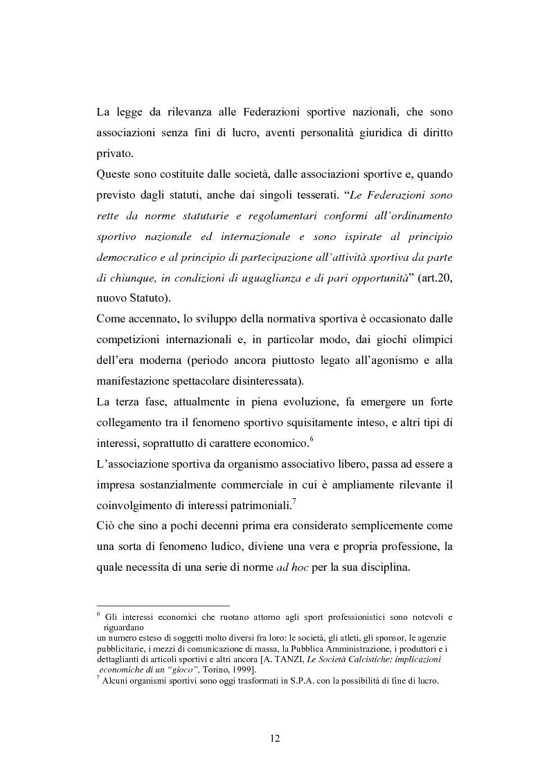 Anteprima della tesi: La Comunità europea e lo sport: problematiche giuridiche scaturite dalla sentenza Bosman, Pagina 5