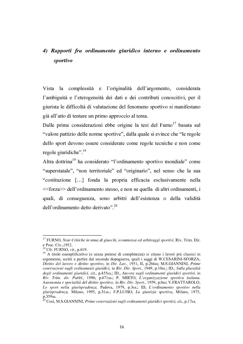 Anteprima della tesi: La Comunità europea e lo sport: problematiche giuridiche scaturite dalla sentenza Bosman, Pagina 9