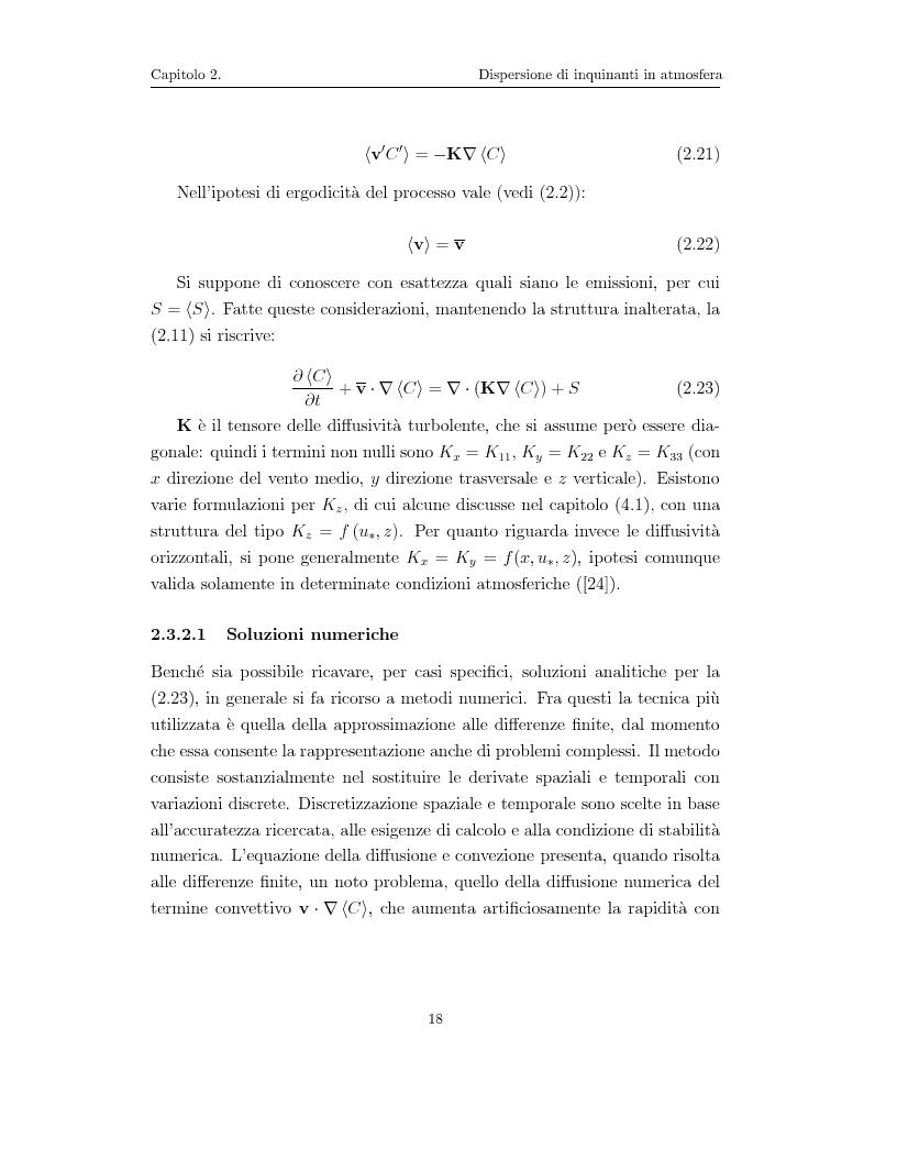 Anteprima della tesi: Modellazione numerica di processi di dispersione in atmosfera: applicazione alla conca di Bolzano, Pagina 14