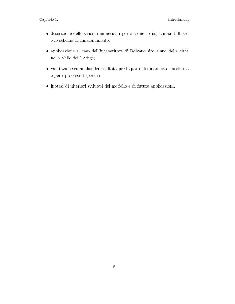 Anteprima della tesi: Modellazione numerica di processi di dispersione in atmosfera: applicazione alla conca di Bolzano, Pagina 4