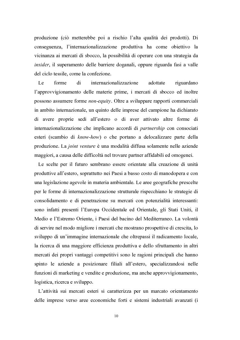Anteprima della tesi: Le problematiche di internazionalizzazione delle imprese appartenenti ai distretti industriali: il caso delle province di Novara, Vercelli e Biella, Pagina 10