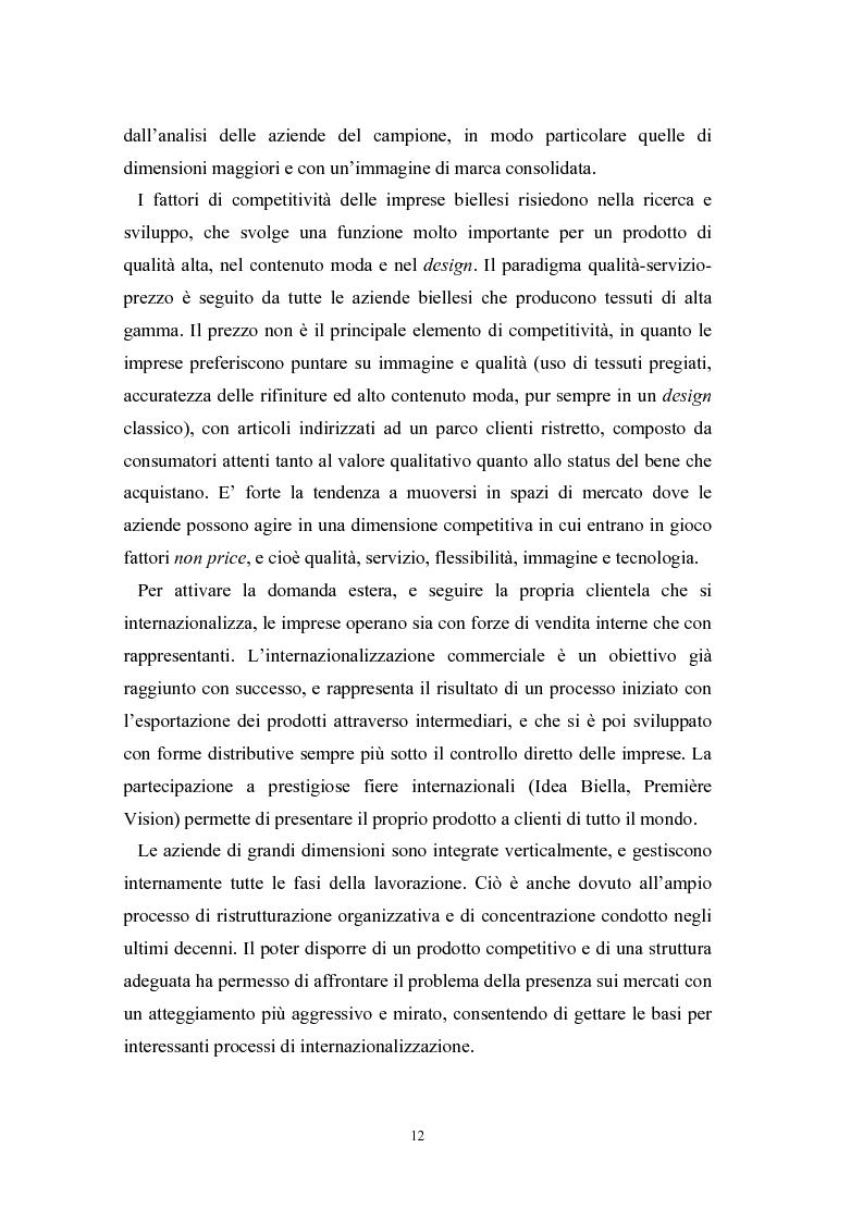 Anteprima della tesi: Le problematiche di internazionalizzazione delle imprese appartenenti ai distretti industriali: il caso delle province di Novara, Vercelli e Biella, Pagina 12