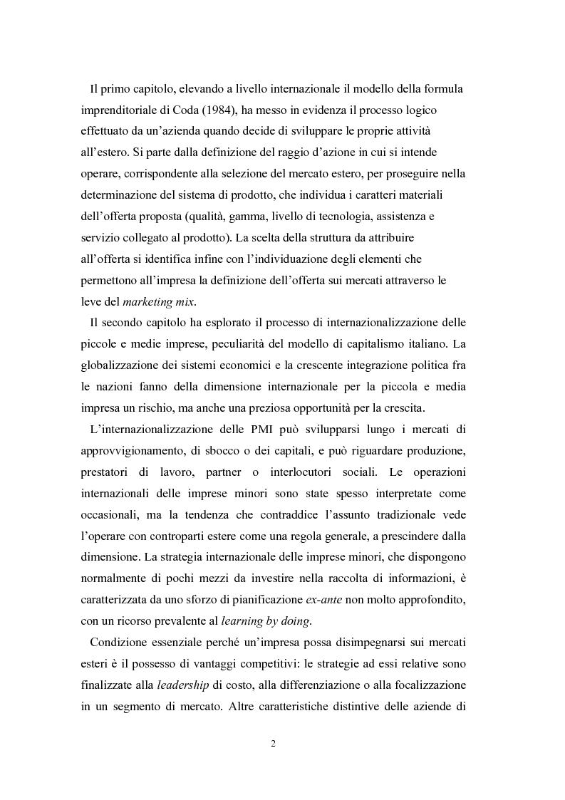 Anteprima della tesi: Le problematiche di internazionalizzazione delle imprese appartenenti ai distretti industriali: il caso delle province di Novara, Vercelli e Biella, Pagina 2