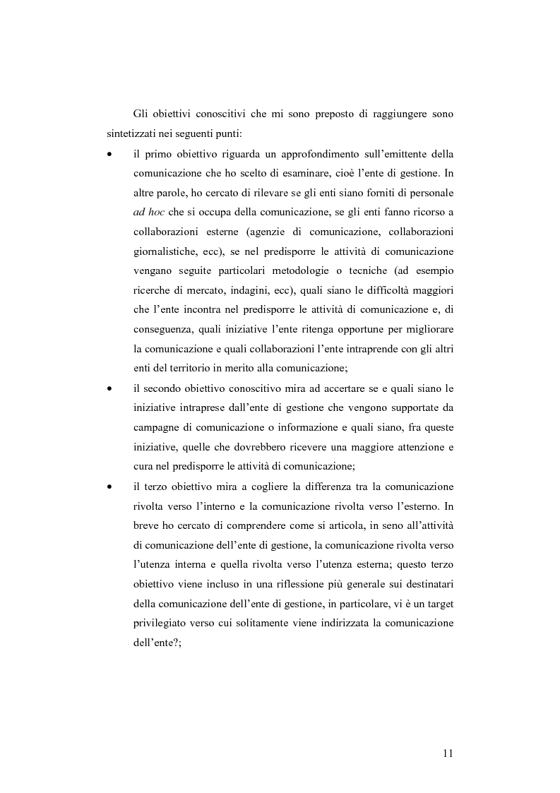 Anteprima della tesi: Società e comunicazione nei parchi naturali, Pagina 11