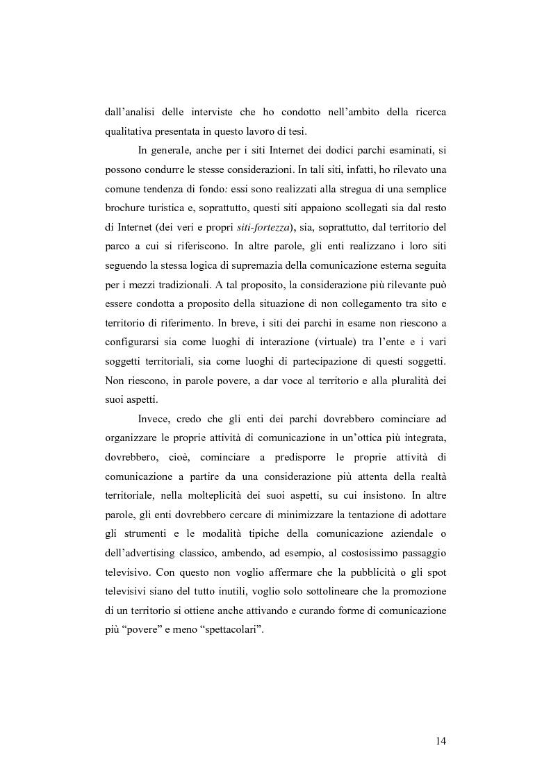 Anteprima della tesi: Società e comunicazione nei parchi naturali, Pagina 14