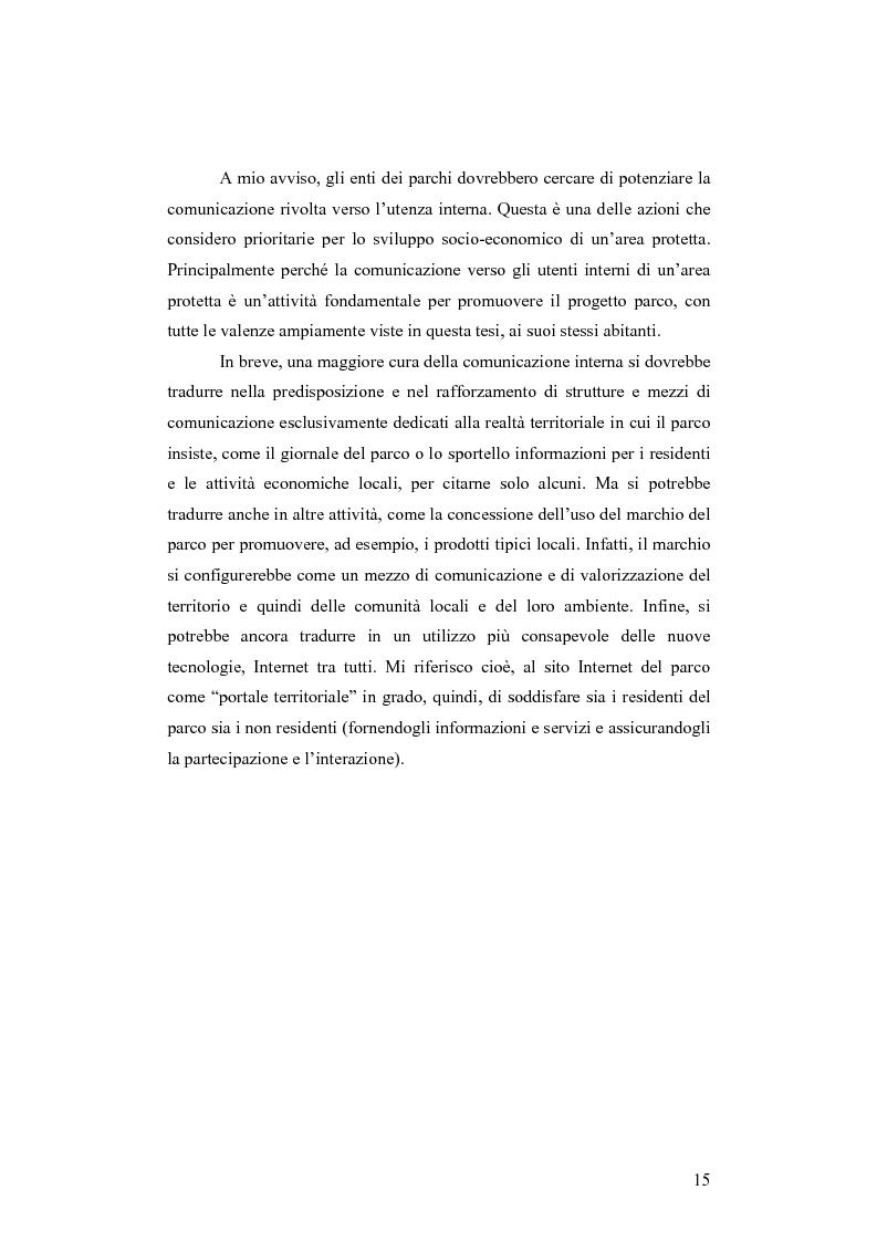Anteprima della tesi: Società e comunicazione nei parchi naturali, Pagina 15