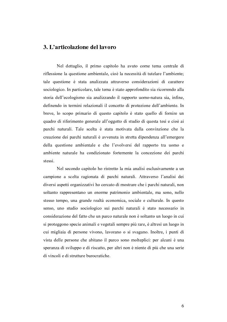 Anteprima della tesi: Società e comunicazione nei parchi naturali, Pagina 6