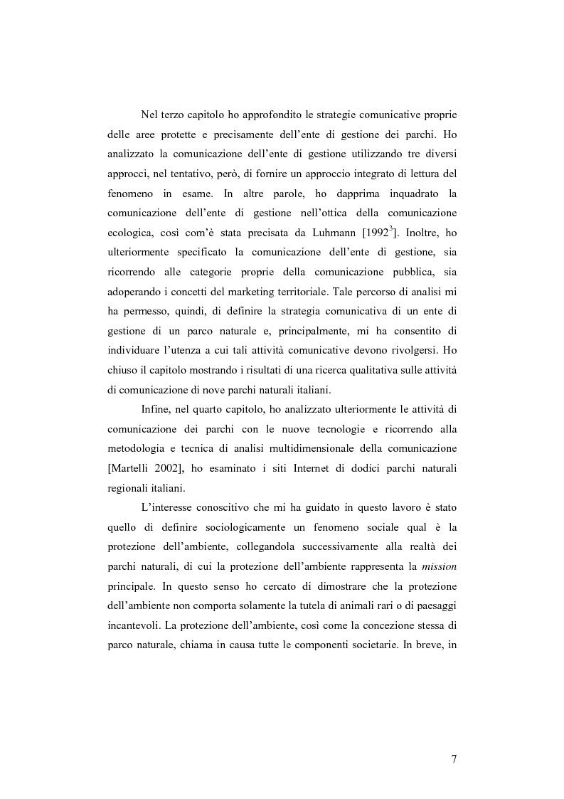 Anteprima della tesi: Società e comunicazione nei parchi naturali, Pagina 7