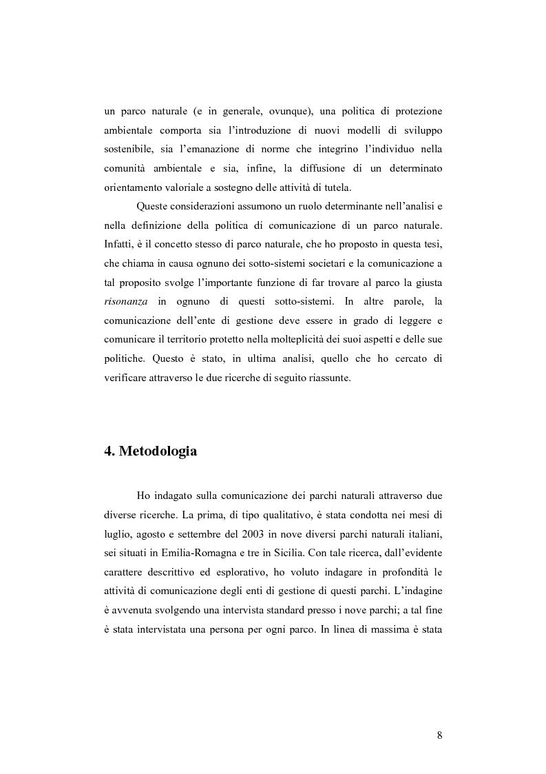 Anteprima della tesi: Società e comunicazione nei parchi naturali, Pagina 8