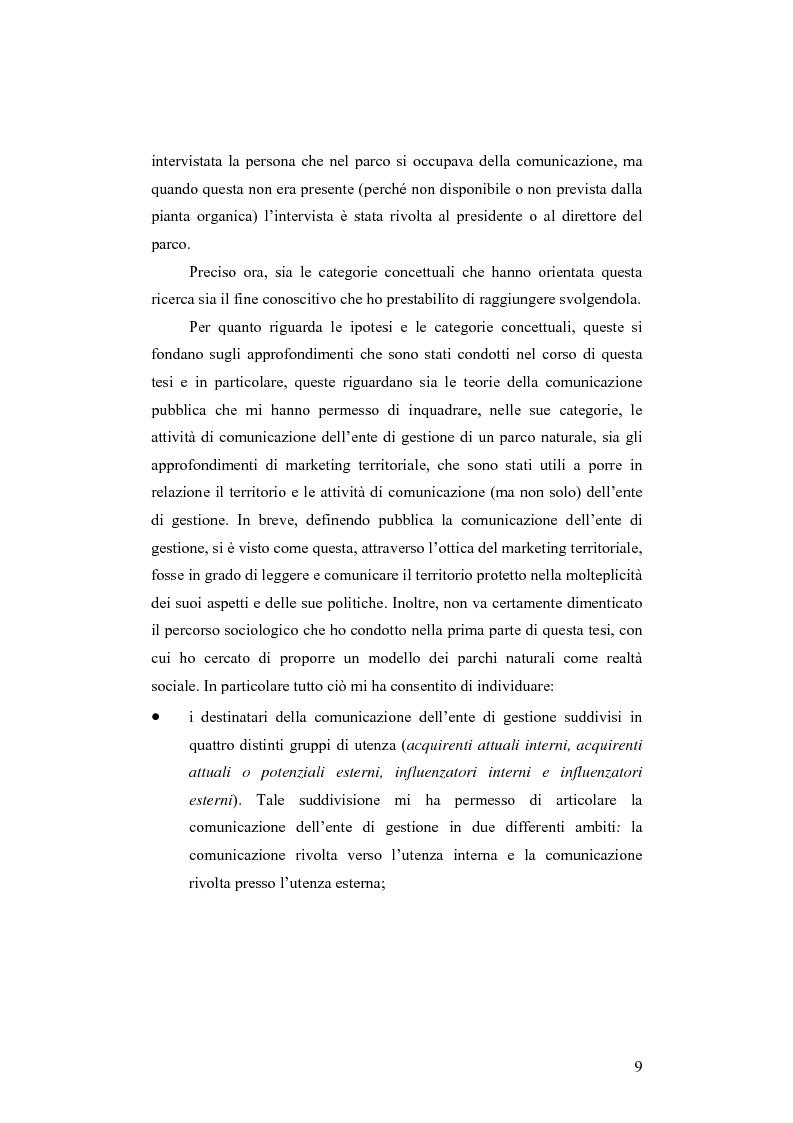Anteprima della tesi: Società e comunicazione nei parchi naturali, Pagina 9